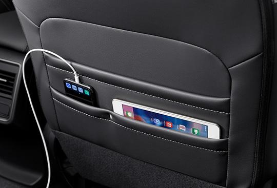 Divided Seatback Pockets